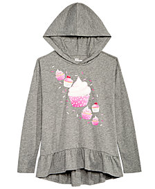 Epic Threads Big Girls Hooded Sweater-Knit Top, Created for Macy's