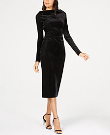 Rachel Zoe Hudson Ribbed Boat-Neck Dress