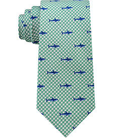 Club Room Men's Gingham Shark Silk Tie, Created for Macy's