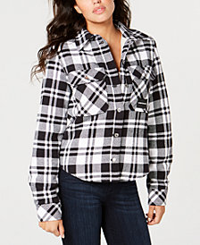 Calvin Klein Jeans Plaid Shirt Jacket