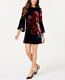 Trina Turk Velvet Shift Dress