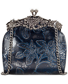 Patricia Nash Metallic Bark Leaves Rosaria Shoulder Bag, Created for Macy's