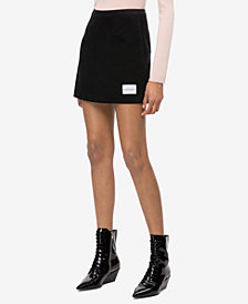 Calvin Klein Jeans Cotton Corduroy Mini Skirt