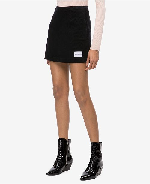 2b8c22e38 Calvin Klein Jeans Cotton Corduroy Mini Skirt & Reviews - Skirts ...