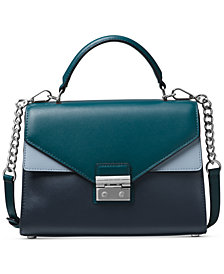 MICHAEL Michael Kors Sloan Tricolor Leather Top Handle Satchel