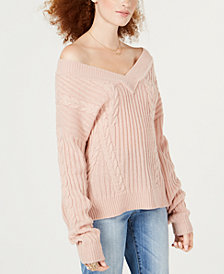 American Rag Juniors' Marled Ribbed Sweater, Created for Macy's