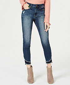 American Rag Juniors' Two-Tone Step-Hem Skinny Jeans, Created for Macy's