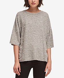 DKNY Drop-Shoulder Embellished Top, Created for Macy's