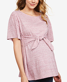 Jessica Simpson Maternity Tie-Front Top