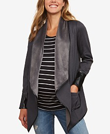 Motherhood Maternity Draped Jacket