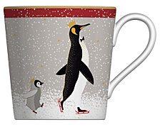 Sara Miller Red Penguin 12-oz. Mug