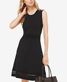 MICHAEL Michael Kors Lace-Hem Sweater Dress