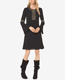 MICHAEL Michael Kors Studded Bell-Sleeve Dress