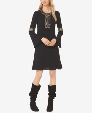 Michael Michael Kors Studded Bell-Sleeve Dress 6620345