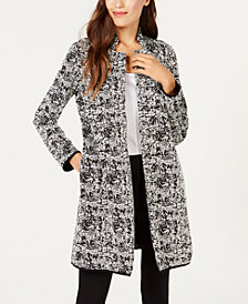 Alfani Jacquard Pipe-Trim Jacket, Created for Macy's