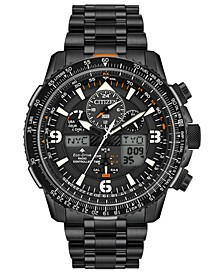 Eco-Drive Men's Analog-Digital Promaster Skyhawk A-T Black Stainless Steel Bracelet Watch 46mm