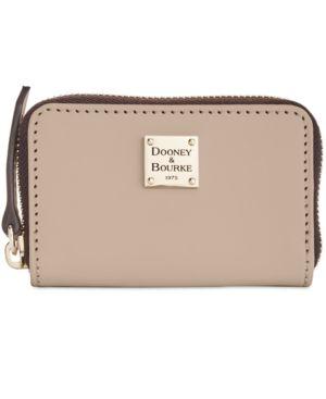 Image of Dooney & Bourke Beacon Zip Around Smooth Leather Credit Card Case