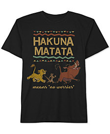 Disney Toddler Boys Hakuna Matata Graphic Cotton T-Shirt