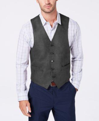 Men's Classic-Fit Faux Suede Moleskin Vest
