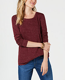 Style & Co Printed Long-Sleeve T-Shirt, Created for Macy's