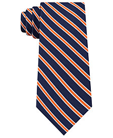 Tommy Hilfiger Men's Tricolor Stripe Silk Tie