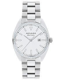 Movado Women's Swiss Heritage Series Datron Diamond (1/4 ct. t.w.) Stainless Steel Bracelet Watch 31mm