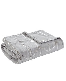 "True North By Sleep Philosophy Raina 50"" X 60"" Heated Metallic Print Throw"