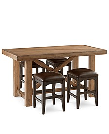 Brewing Collection, 5-Pc. Set (Gathering Table & 4 Lager Gathering Stools)