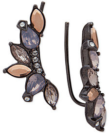 Jenny Packham Hematite-Tone Crystal Climber Earrings