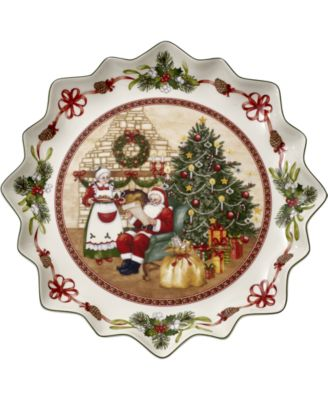Toy's Fantasy Santa's Home Pastry Plate