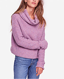 Free People Stormy Fuzzy Cowl-Neck Sweater