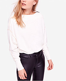 Free People Nikala Zip-Shoulder Top