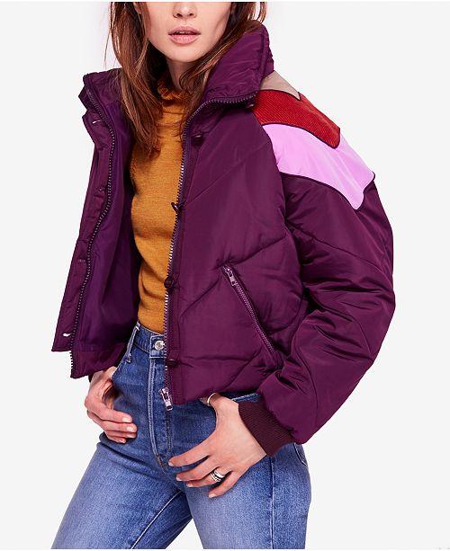 Free People Heidi Chevron Ski Puffer Jacket