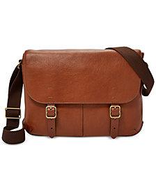 Fossil Men's Buckner Leather Commuter Bag