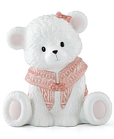Lenox Baby Bear Pink Girl Bank
