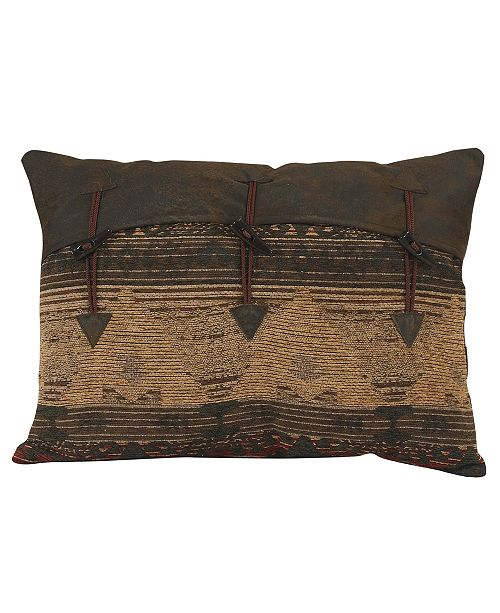 "HiEnd Accents Pillow Decorative 16""x21"" Buttons"