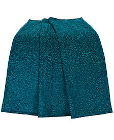 "Teal Chenille Leopard 50""x60"" Throw"