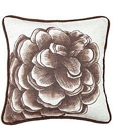 "18""x18"" Water Print Pinecone Pillow"