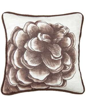 18x18 Water Print Pinecone Pillow