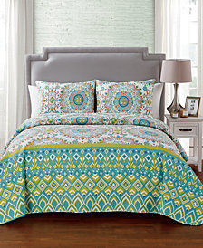 VCNY Home Pina Reversible 3-Pc. King Quilt Set