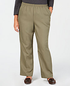 Karen Scott Plus-Size Mid-Rise Pull-On Pants, Created for Macy's