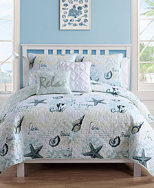 VCNY Home Shore Life Reversible Quilt Set Collection