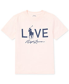 Polo Ralph Lauren Big Boys Pink Pony Graphic Cotton T-Shirt