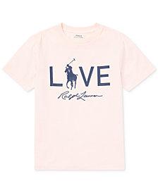 Polo Ralph Lauren Big Boys Pink Pony Graphic Cotton T-Shirt