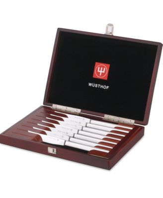 wusthof 8piece stainless steel steak knives set