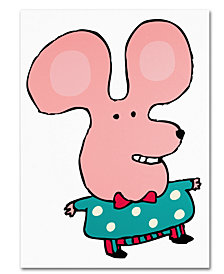 Carla Martell 'Happy Mr. Mouse' Canvas Art Print Collection