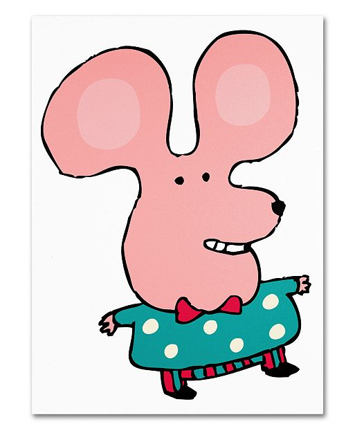 Trademark Global Carla Martell 'Happy Mr. Mouse' Canvas Art Print Collection