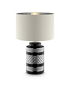 "26.5"" Lilith Chevron Ceramic Table Lamp"