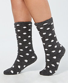 Charter Club Polka Dot Fuzzy Cozy Socks, Created for Macy's