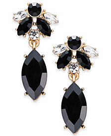 Charter Club Gold-Tone Crystal & Stone Drop Earrings, Created for Macy's